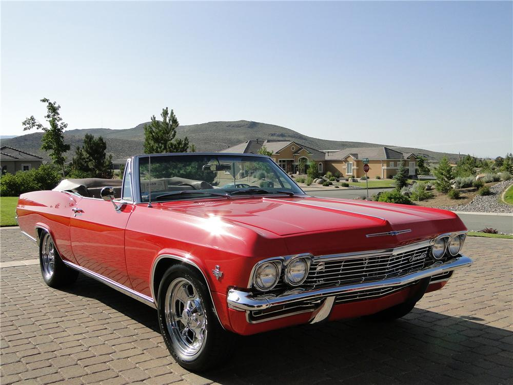 1965 CHEVROLET IMPALA CUSTOM CONVERTIBLE - Front 3/4 - 96890
