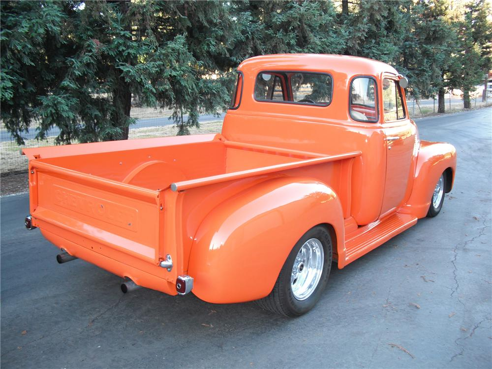 1951 CHEVROLET 3100 CUSTOM PICKUP - Rear 3/4 - 96895