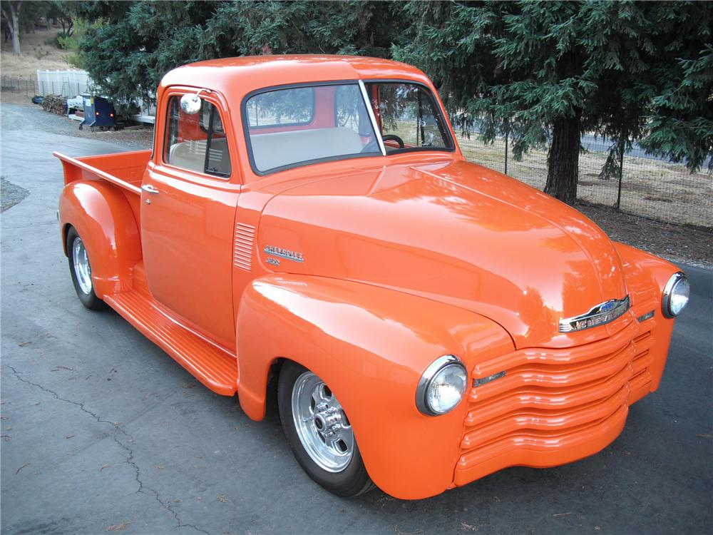 1951 CHEVROLET 3100 CUSTOM PICKUP - Side Profile - 96895