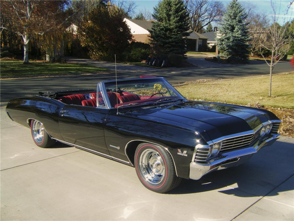 1967 chevrolet impala ss convertible 96900. Black Bedroom Furniture Sets. Home Design Ideas
