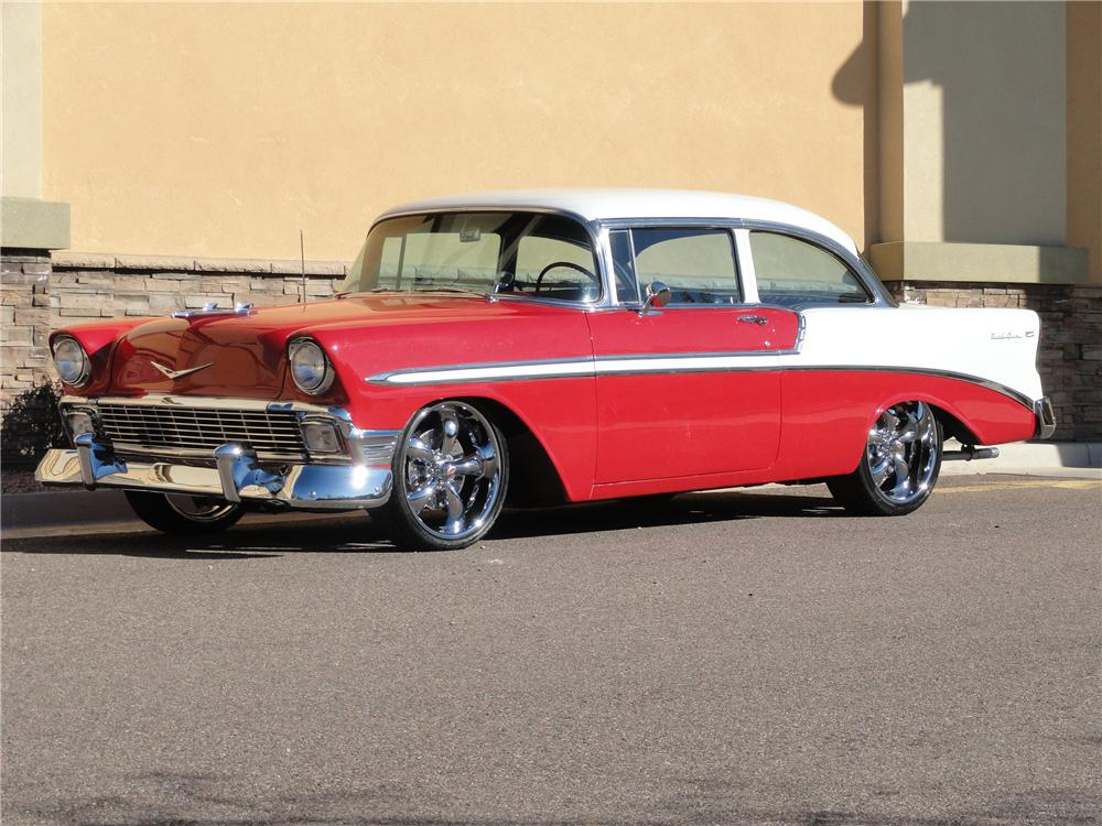 1956 CHEVROLET CUSTOM 2 DOOR SEDAN - Front 3/4 - 96903