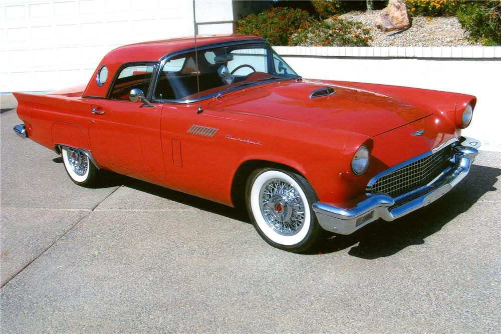 1957 FORD THUNDERBIRD CONVERTIBLE - Front 3/4 - 96911