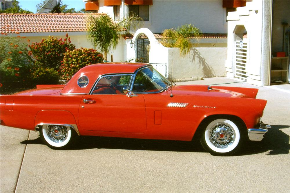 1957 FORD THUNDERBIRD CONVERTIBLE - Side Profile - 96911