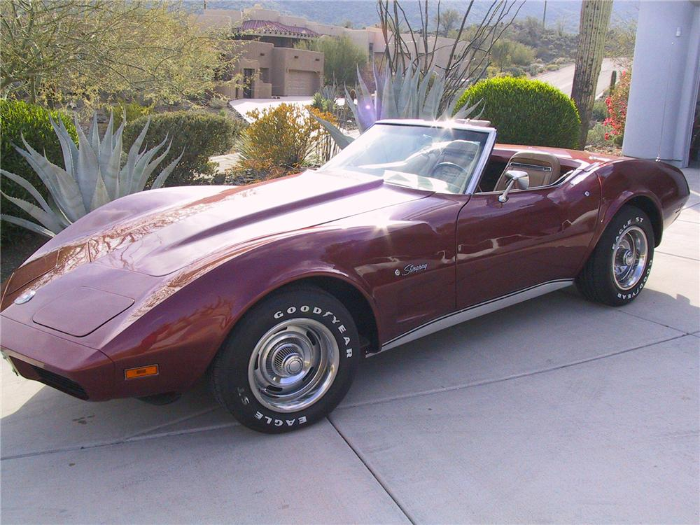 1974 CHEVROLET CORVETTE CONVERTIBLE - Front 3/4 - 96914