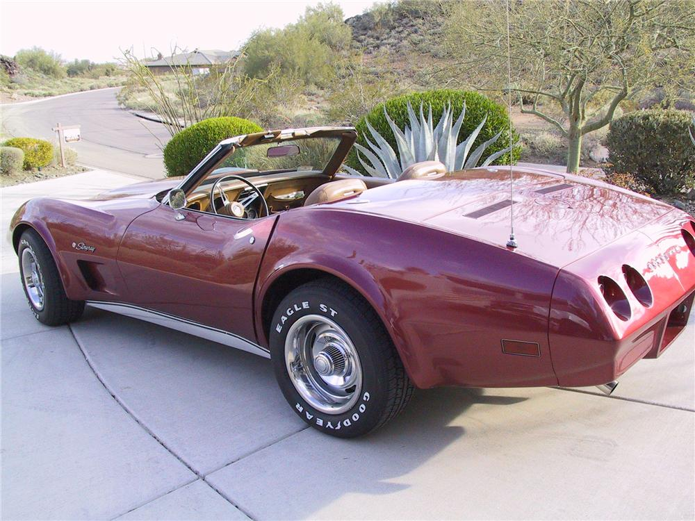 1974 CHEVROLET CORVETTE CONVERTIBLE - Rear 3/4 - 96914