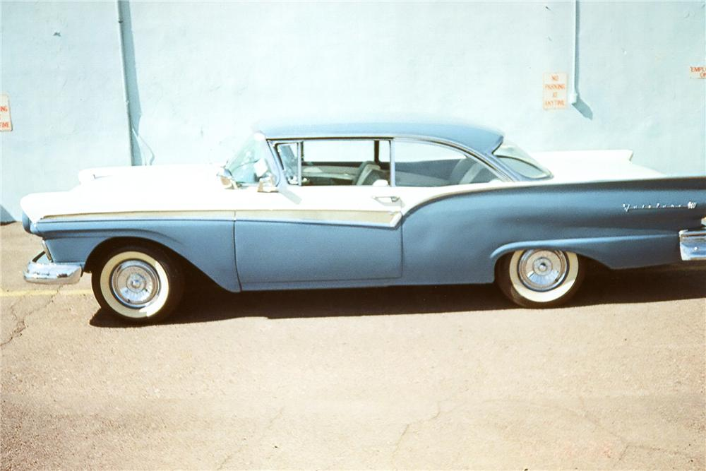 1957 FORD FAIRLANE 2 DOOR HARDTOP - Side Profile - 96921