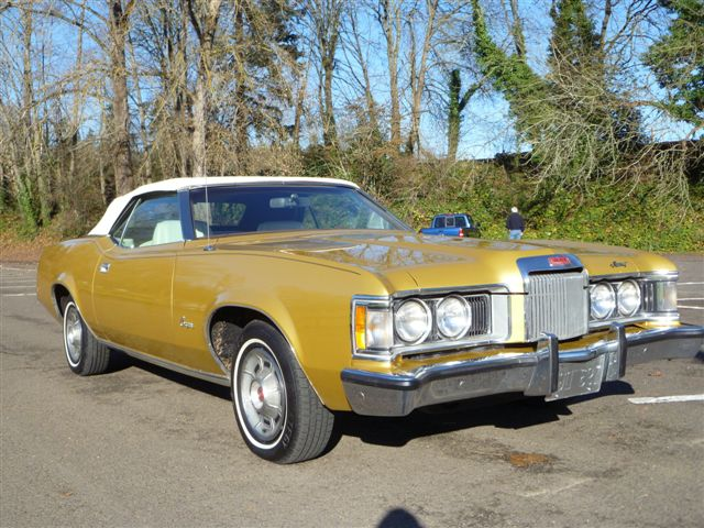 1973 MERCURY COUGAR XR7 CONVERTIBLE - Front 3/4 - 96925