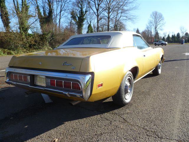 1973 MERCURY COUGAR XR7 CONVERTIBLE - Rear 3/4 - 96925