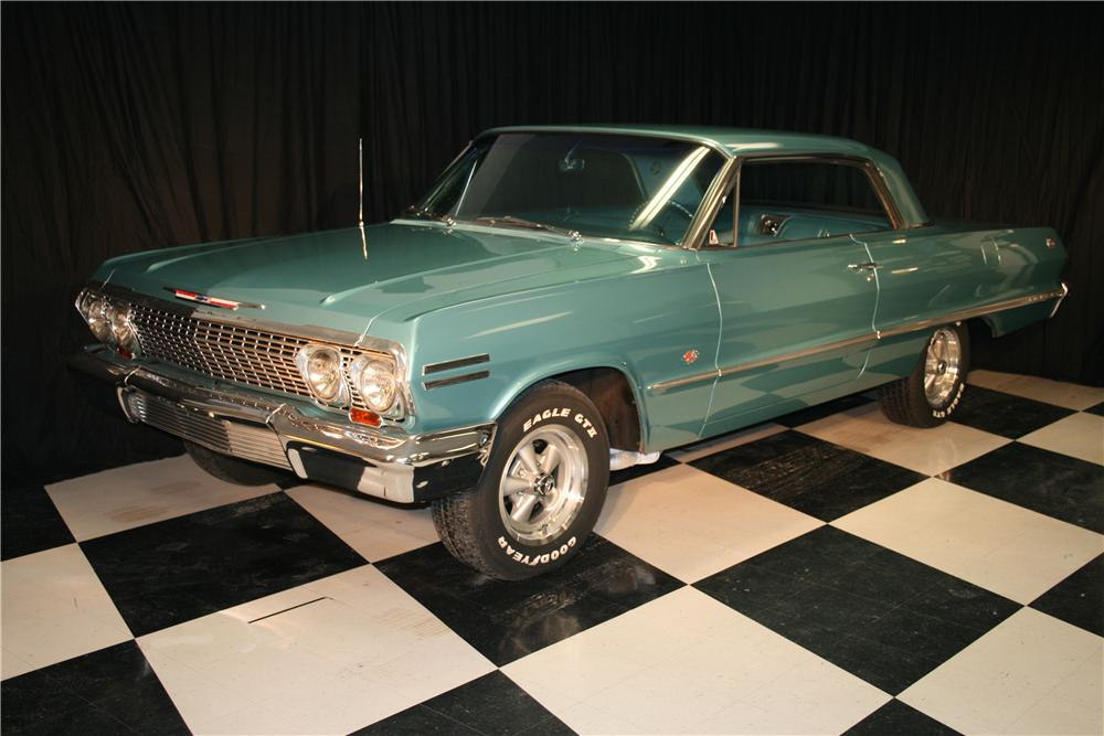 1963 CHEVROLET IMPALA SS 2 DOOR COUPE - Front 3/4 - 96935