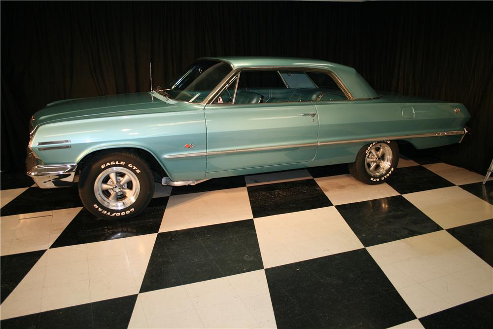 1963 CHEVROLET IMPALA SS 2 DOOR COUPE - Side Profile - 96935