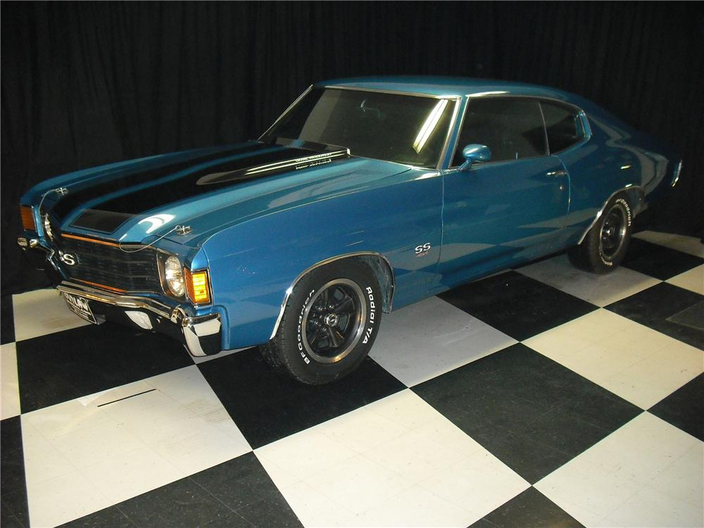 1972 CHEVROLET CHEVELLE SS 2 DOOR COUPE - Front 3/4 - 96937