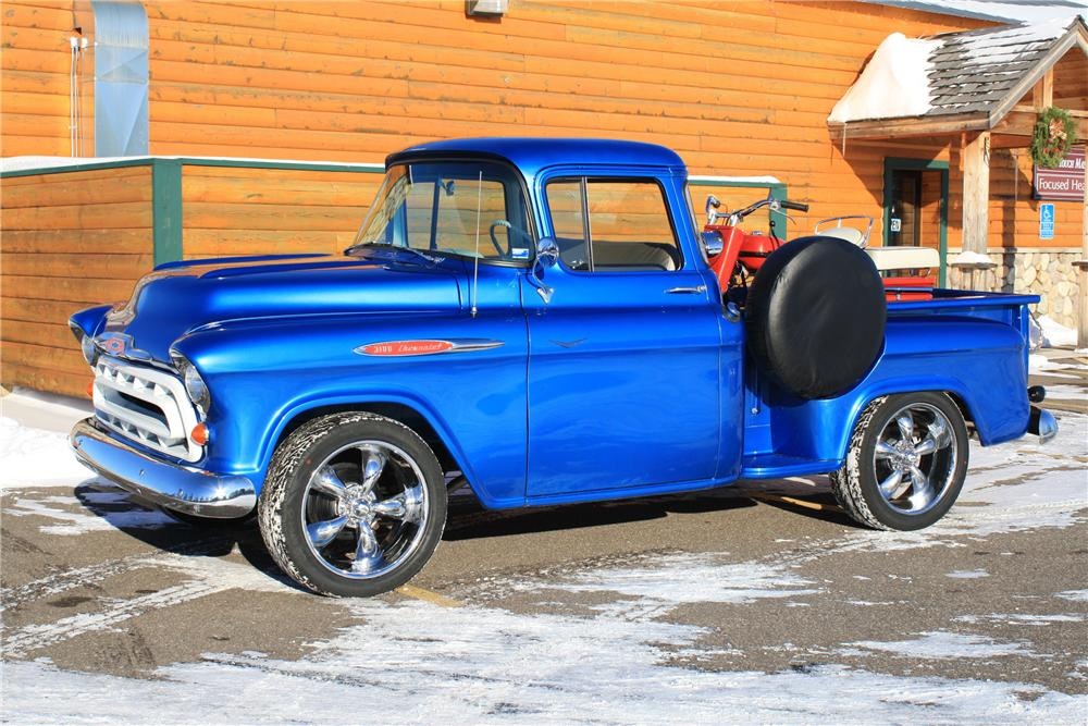 1957 CHEVROLET 3100 PICKUP - Side Profile - 96947
