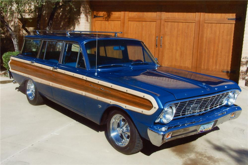 1964 FORD FALCON SQUIRE CUSTOM STATION WAGON - Front 3/4 - 96959