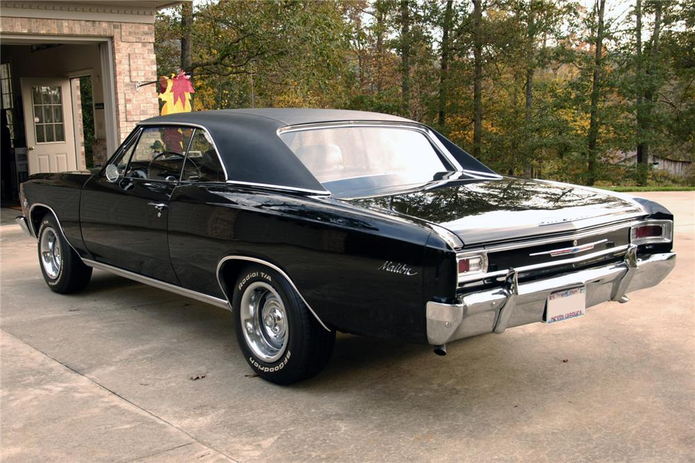1966 CHEVROLET CHEVELLE 2 DOOR COUPE - Rear 3/4 - 96960