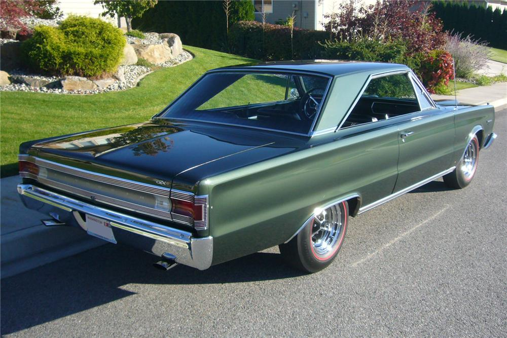 1967 PLYMOUTH GTX 2 DOOR HARDTOP - Rear 3/4 - 96965