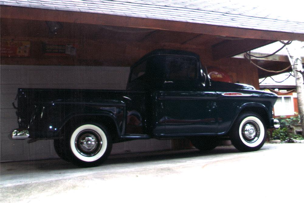 1957 CHEVROLET 3100 PICKUP - Side Profile - 96982