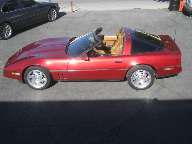 1990 CHEVROLET CORVETTE COUPE - Side Profile - 96995
