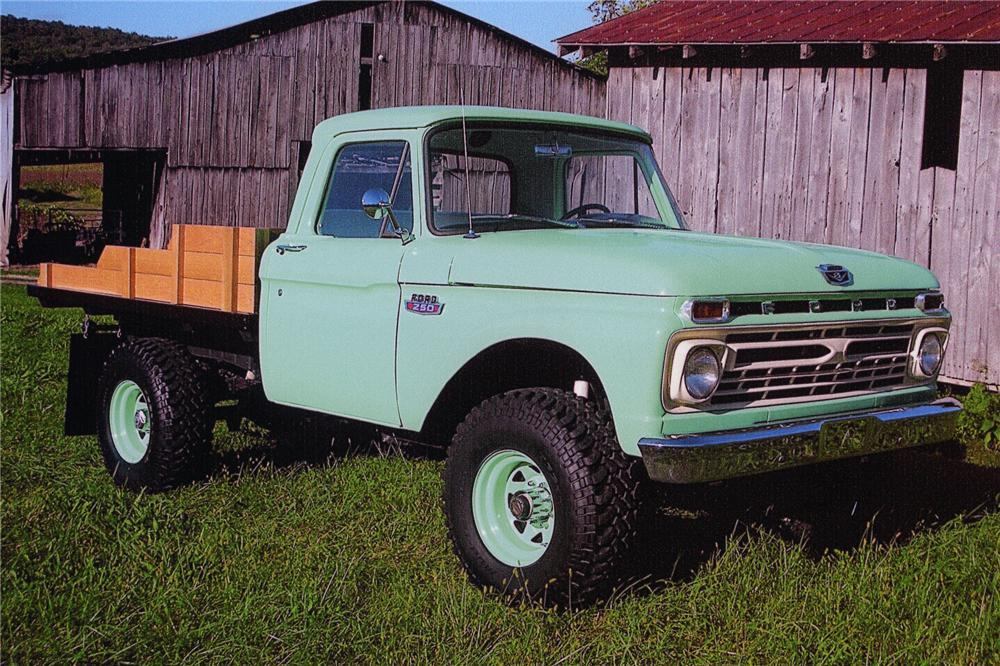 1966 FORD F-250 CUSTOM HIGHBOY PICKUP - Front 3/4 - 97000