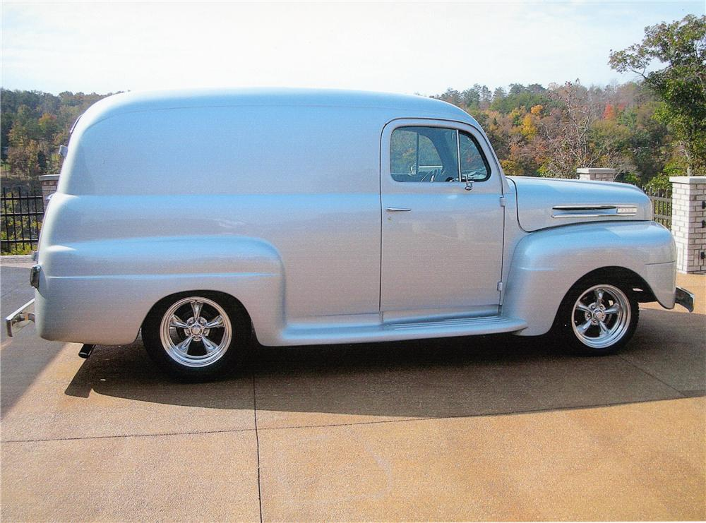 1948 FORD CUSTOM PANEL TRUCK - Front 3/4 - 97002