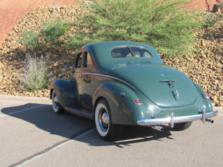 1940 FORD 5 WINDOW COUPE - Rear 3/4 - 97013