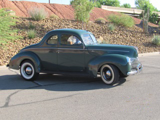 1940 FORD 5 WINDOW COUPE - Side Profile - 97013
