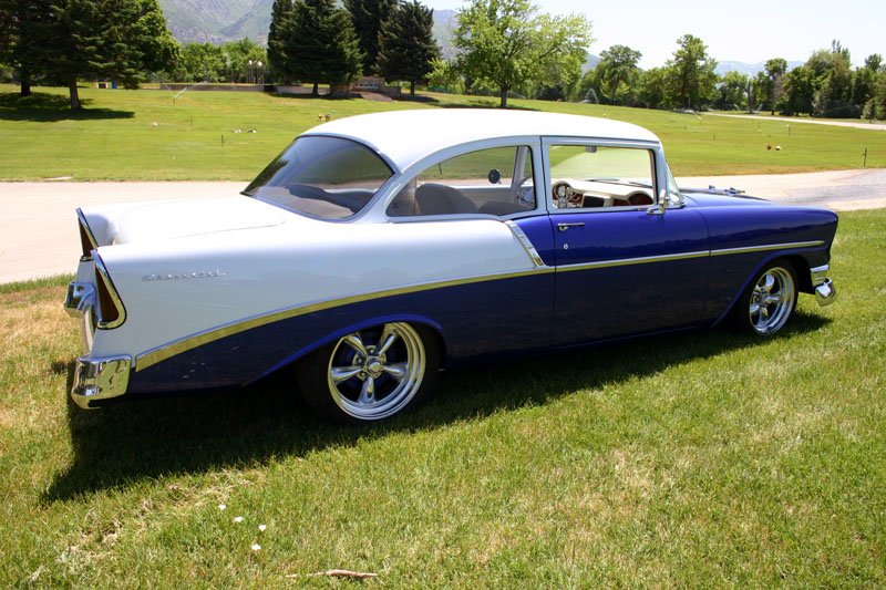 1956 CHEVROLET 150 CUSTOM 2 DOOR SEDAN - Side Profile - 97029