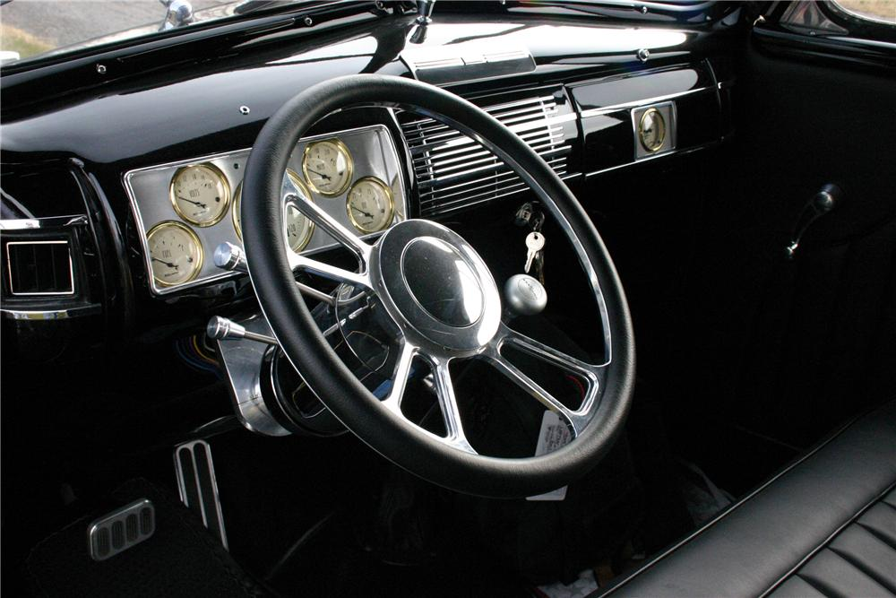 1940 FORD DELUXE CUSTOM CONVERTIBLE - Interior - 97030
