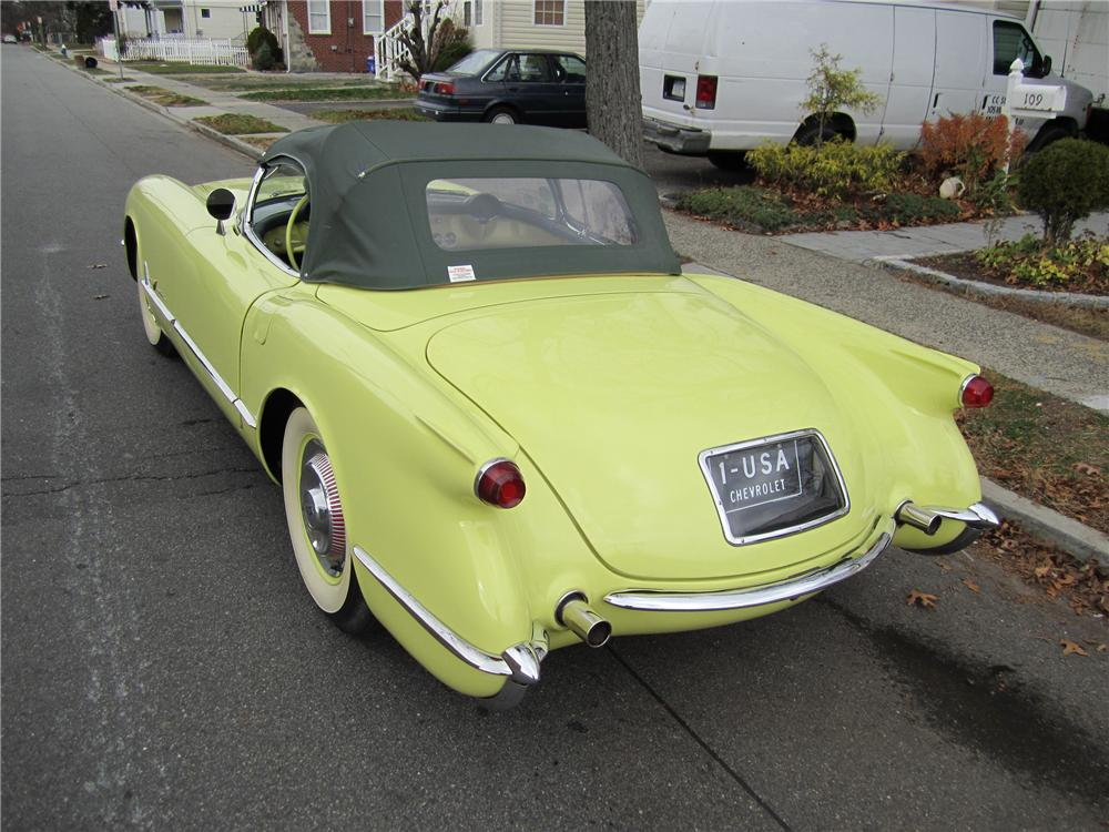 1955 CHEVROLET CORVETTE CONVERTIBLE - Rear 3/4 - 97045