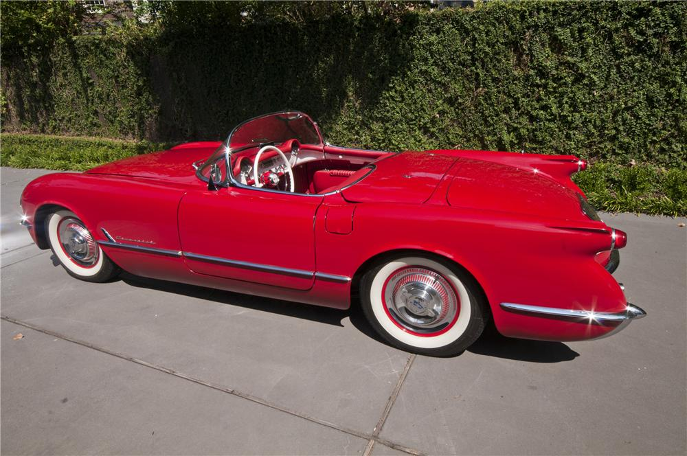 1954 CHEVROLET CORVETTE CONVERTIBLE - Side Profile - 97049