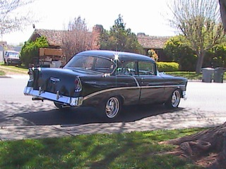 1956 CHEVROLET 210 CUSTOM 2 DOOR HARDTOP - Rear 3/4 - 97053