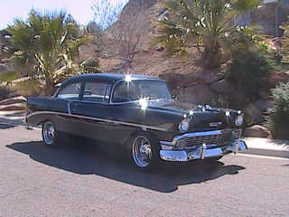 1956 CHEVROLET 210 CUSTOM 2 DOOR HARDTOP - Side Profile - 97053