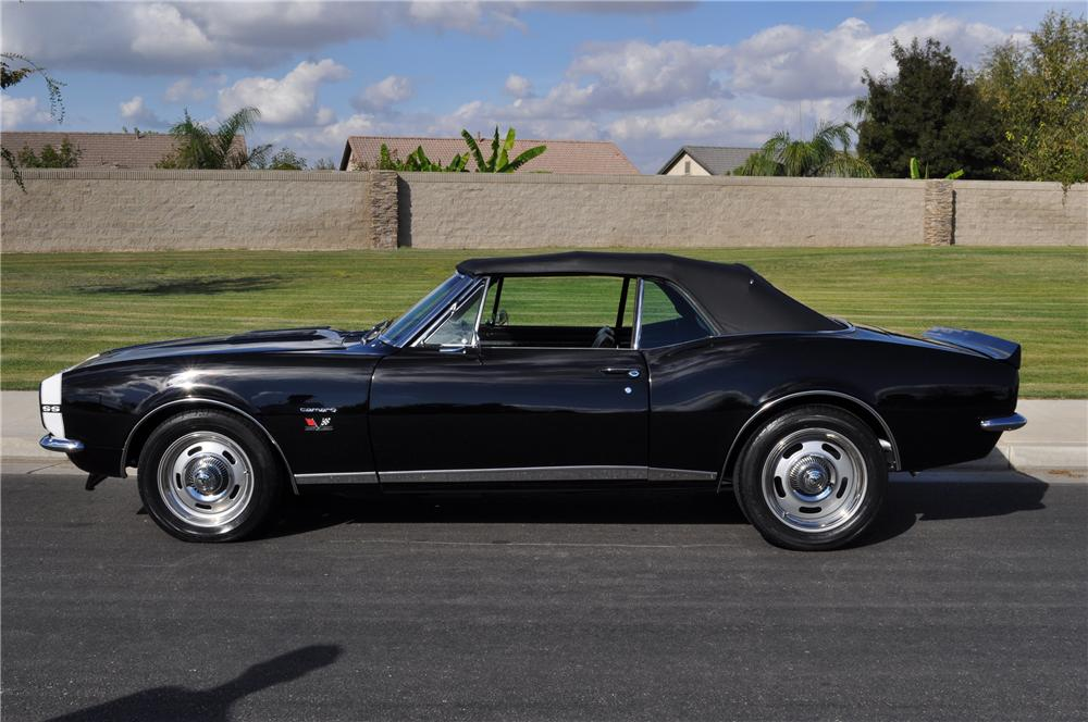 1967 CHEVROLET CAMARO CUSTOM CONVERTIBLE - Side Profile - 97063