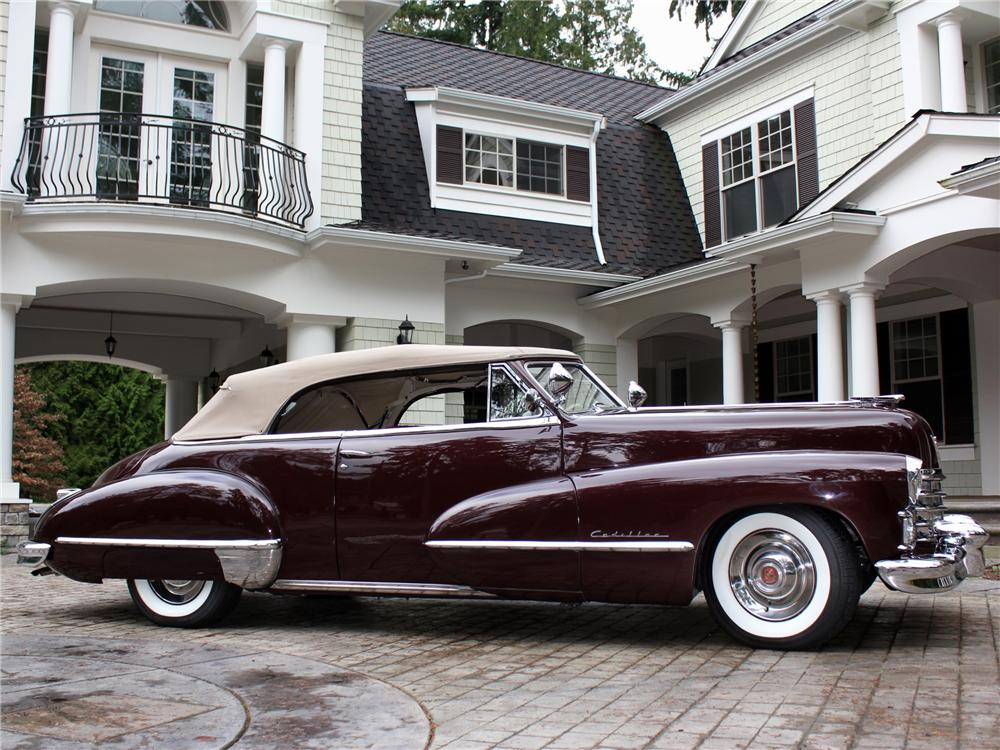 1947 CADILLAC SERIES 62 CONVERTIBLE - Side Profile - 97071