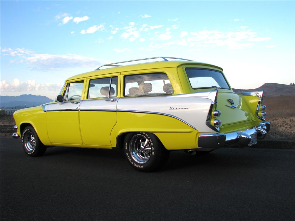 1956 DODGE SIERRA CUSTOM 4 DOOR STATION WAGON - Side Profile - 97077
