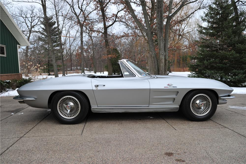 1963 CHEVROLET CORVETTE CONVERTIBLE - Side Profile - 97079