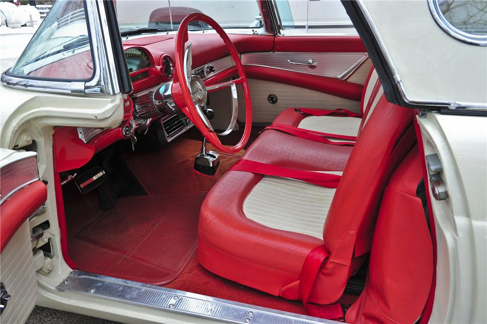 1956 FORD THUNDERBIRD CONVERTIBLE - Interior - 97081