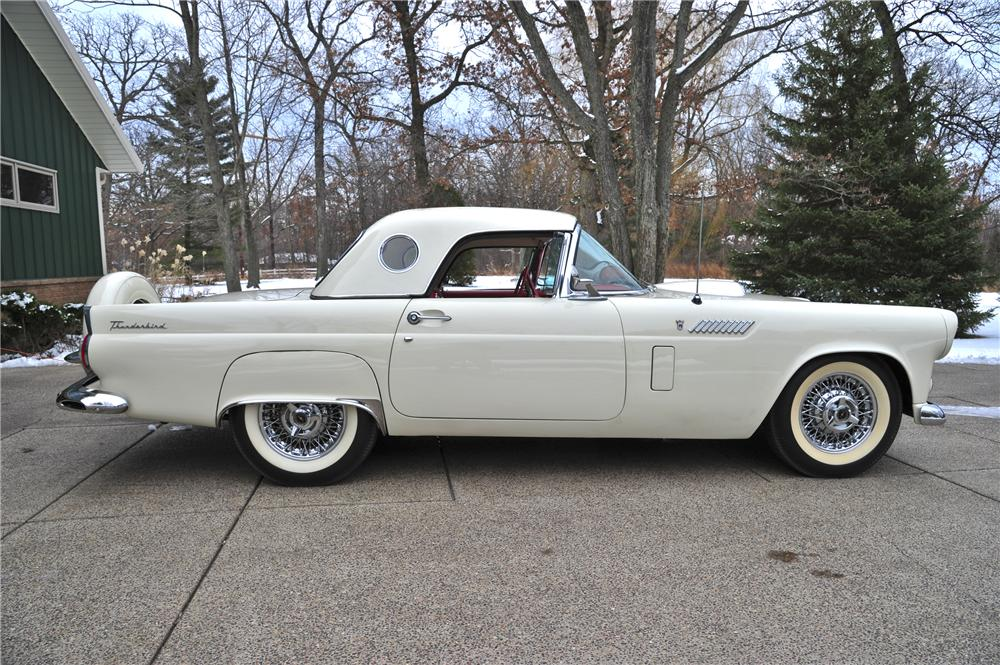 1956 FORD THUNDERBIRD CONVERTIBLE - Side Profile - 97081