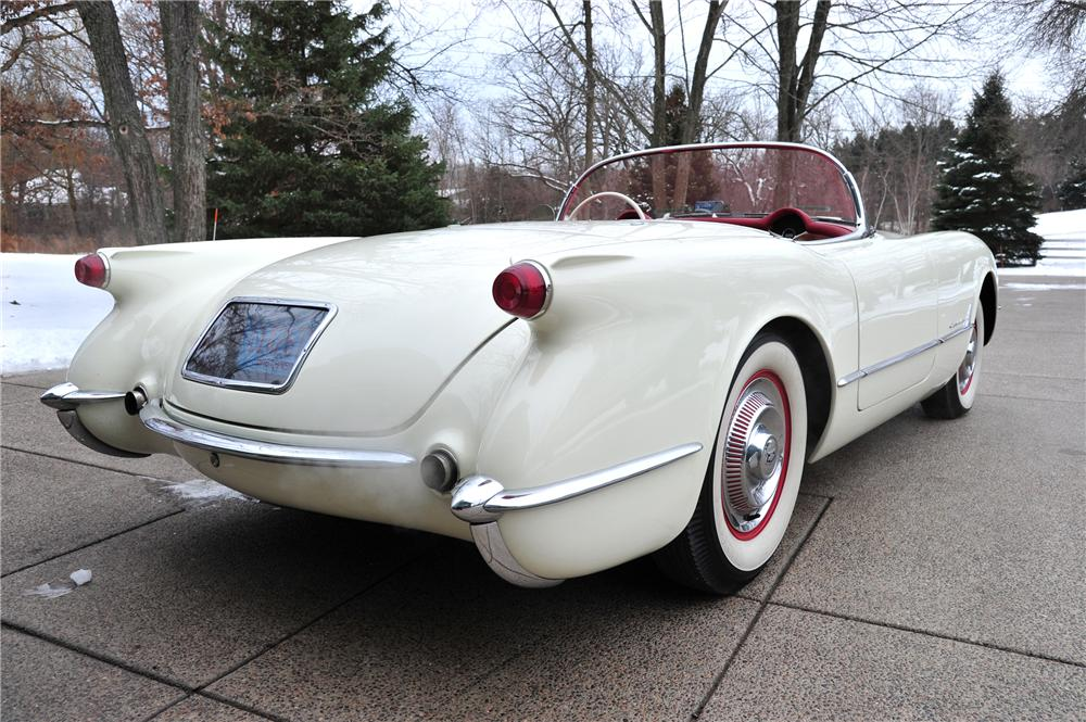 1954 CHEVROLET CORVETTE CONVERTIBLE - Rear 3/4 - 97082