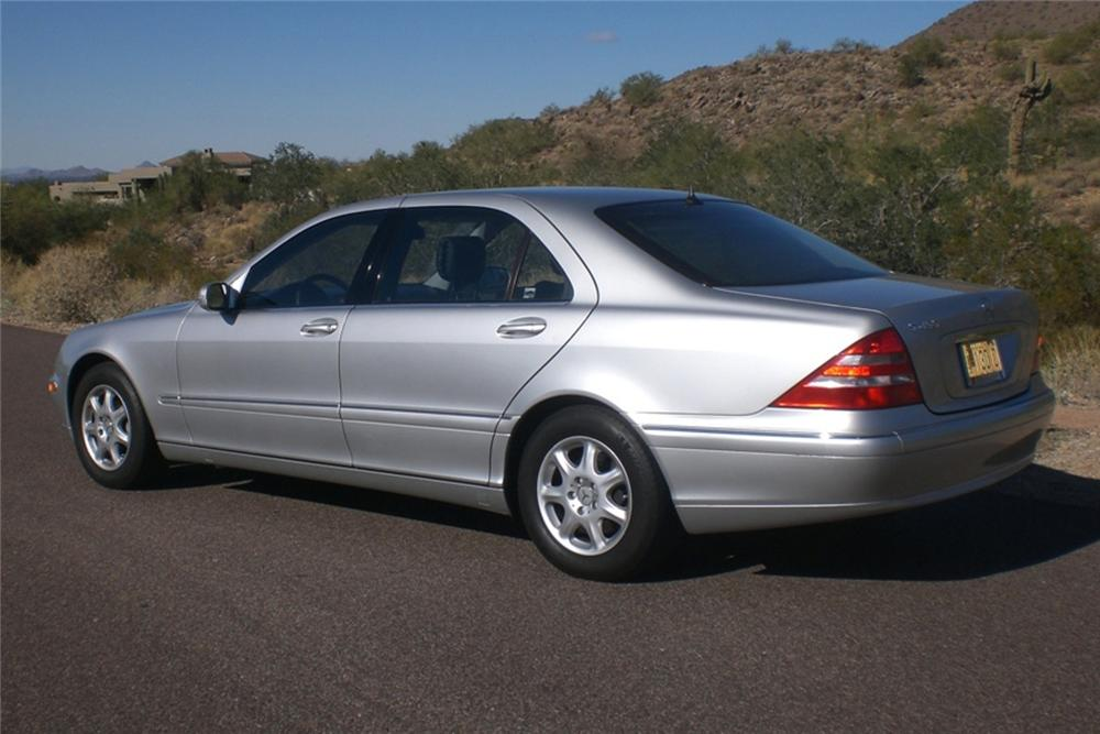 2002 MERCEDES-BENZ S430 4 DOOR SEDAN - Rear 3/4 - 97228
