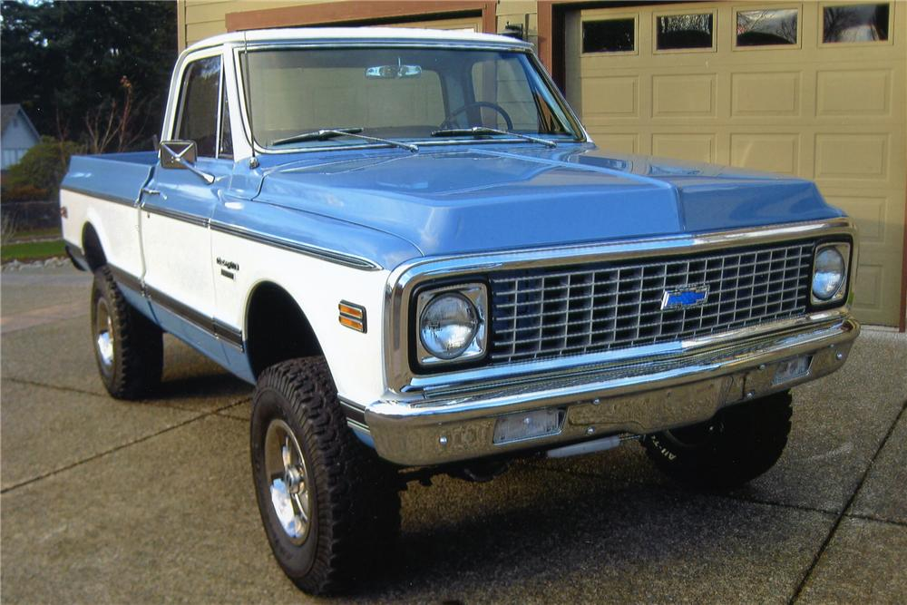 1972 CHEVROLET K10 SHORT BED PICKUP - Front 3/4 - 97230