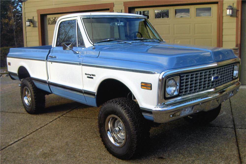 1972 CHEVROLET K10 SHORT BED PICKUP - Side Profile - 97230