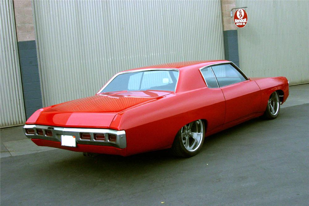 1969 CHEVROLET CAPRICE CUSTOM HARDTOP - Rear 3/4 - 97231