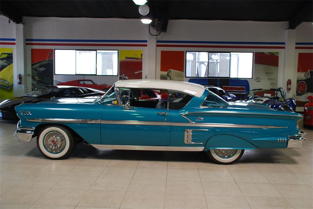 1958 CHEVROLET IMPALA 2 DOOR HARDTOP - Side Profile - 97239