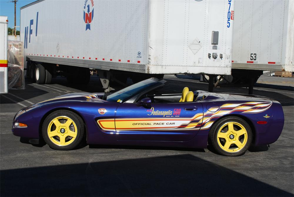 1998 CHEVROLET CORVETTE INDY PACE CAR CONVERTIBLE - Side Profile - 97242