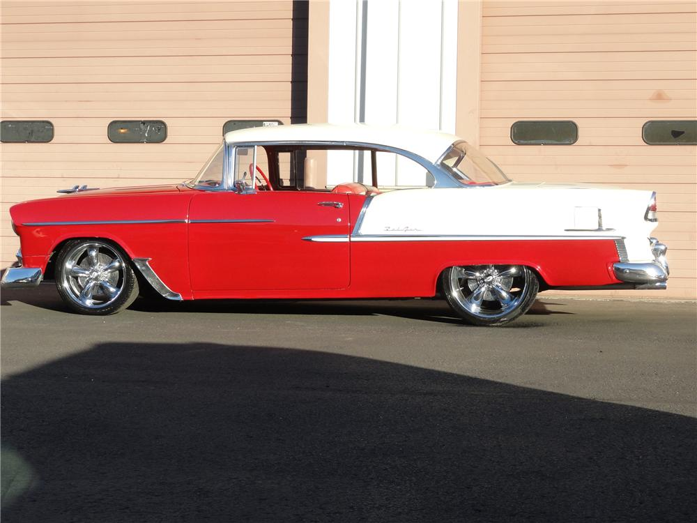 1955 CHEVROLET BEL AIR CUSTOM 2 DOOR HARDTOP - Front 3/4 - 97248