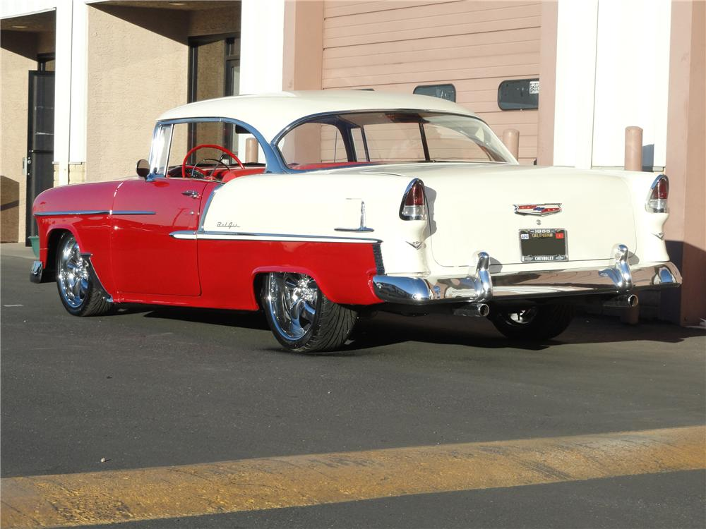 1955 CHEVROLET BEL AIR CUSTOM 2 DOOR HARDTOP - Rear 3/4 - 97248