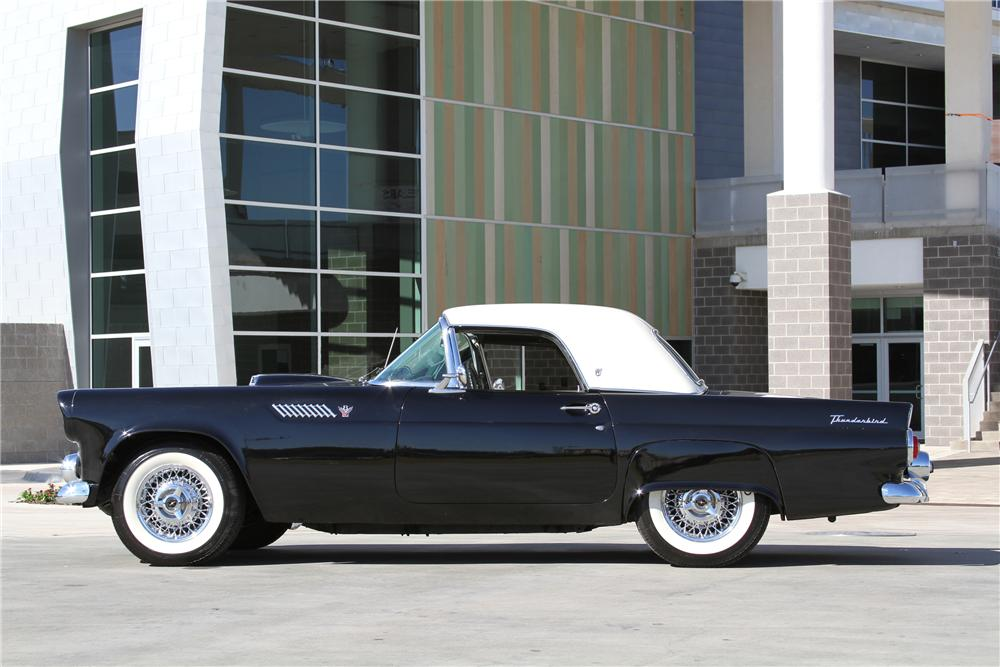 1955 FORD THUNDERBIRD CONVERTIBLE - Side Profile - 97254
