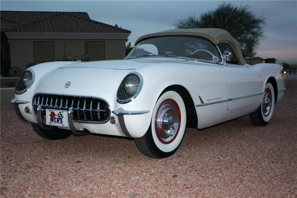 1954 CHEVROLET CORVETTE CONVERTIBLE - Front 3/4 - 97384