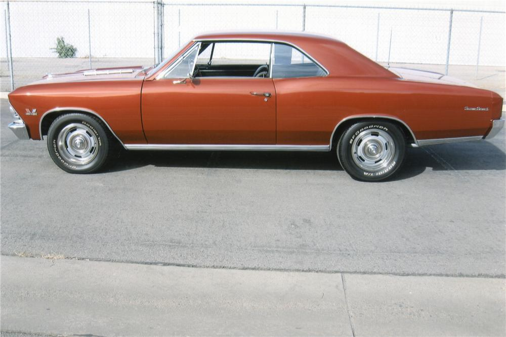 1966 CHEVROLET CHEVELLE 2 DOOR HARDTOP - Side Profile - 97400