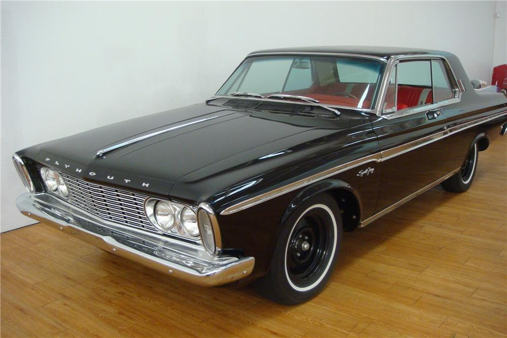 1963 PLYMOUTH MAX WEDGE 2 DOOR HARDTOP - Front 3/4 - 97406